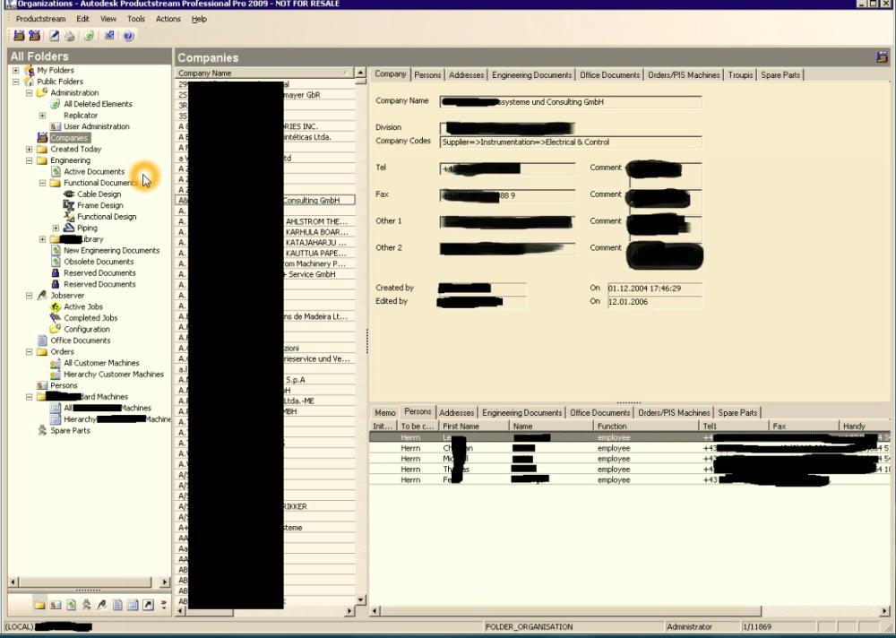 Schnittstelle zu Autodesk Productstream Professional